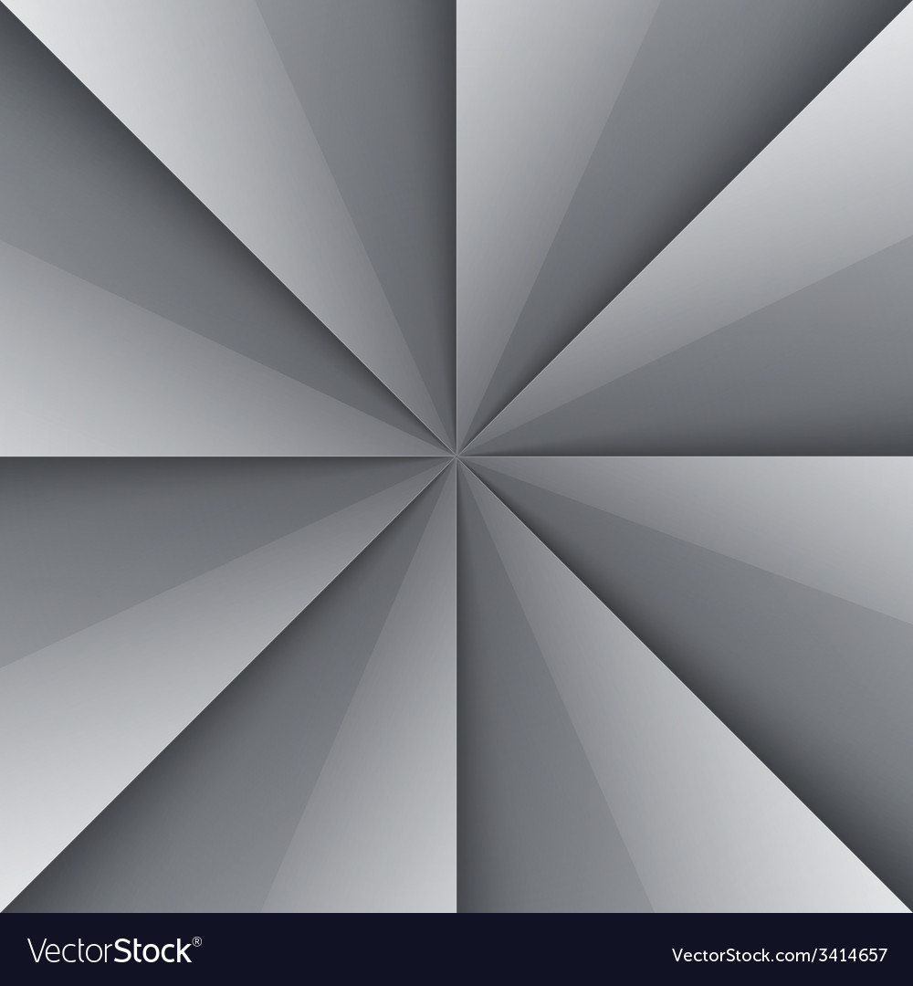 Gray and white shiny folded paper triangles vector | Price: 1 Credit (USD $1)