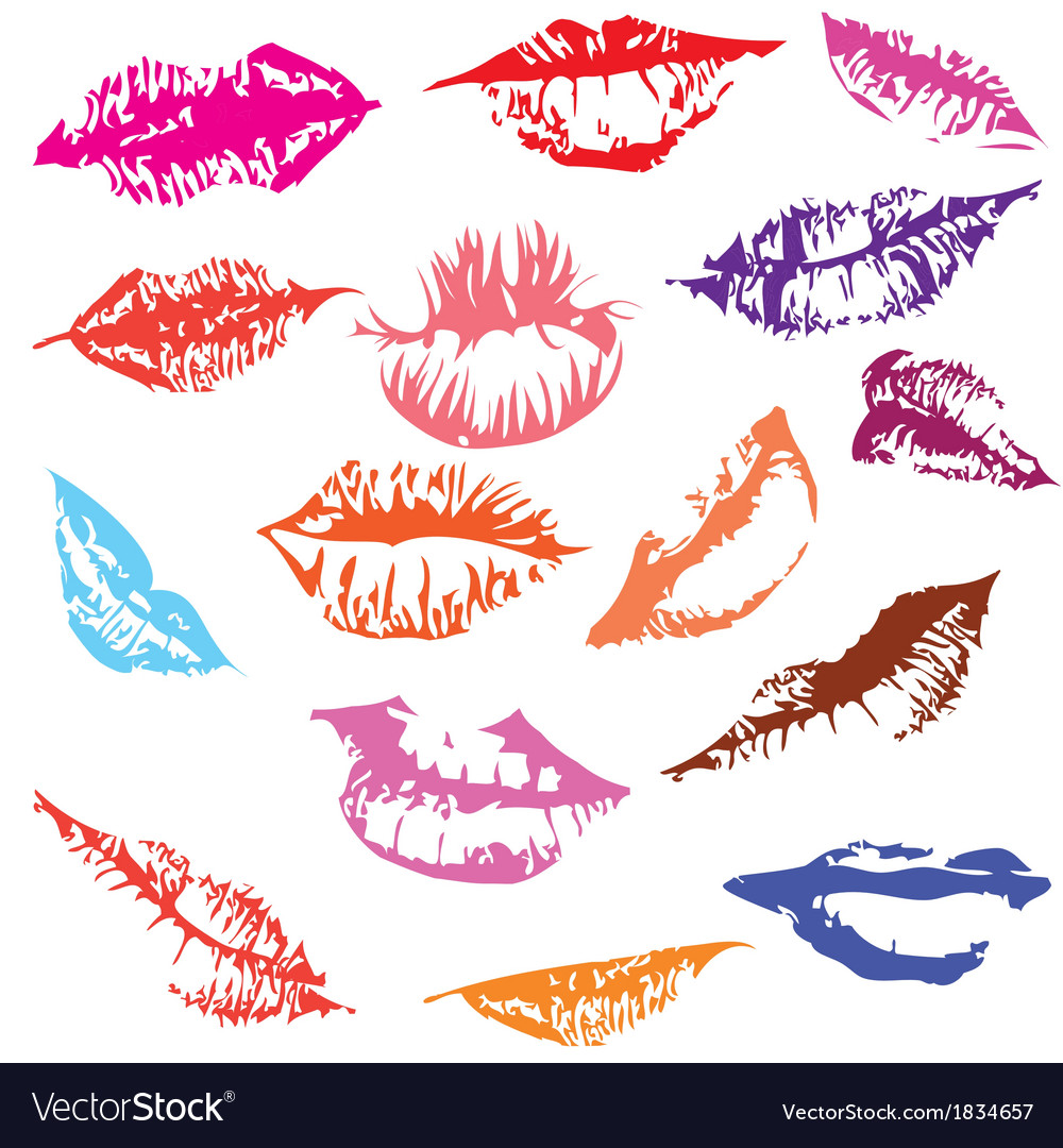 Lips set track vector | Price: 1 Credit (USD $1)