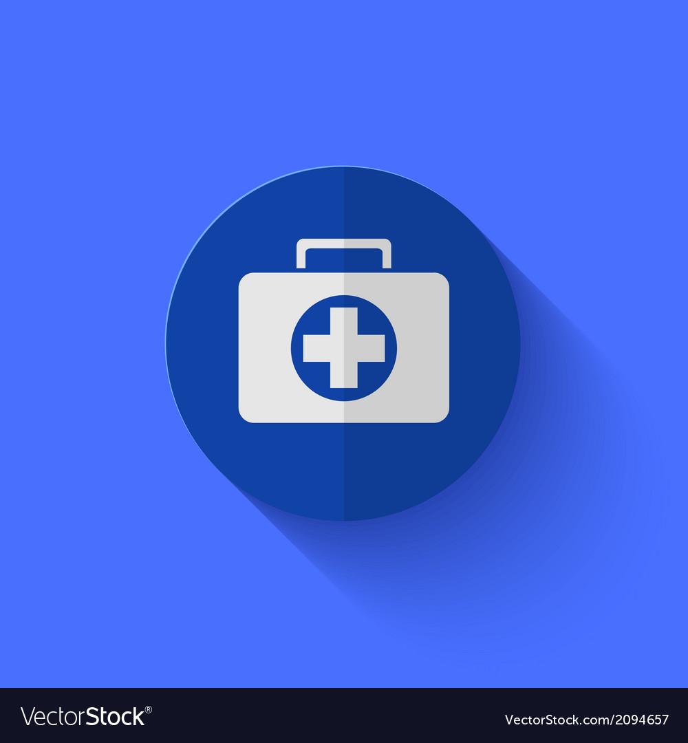 Modern flat blue circle icon vector | Price: 1 Credit (USD $1)