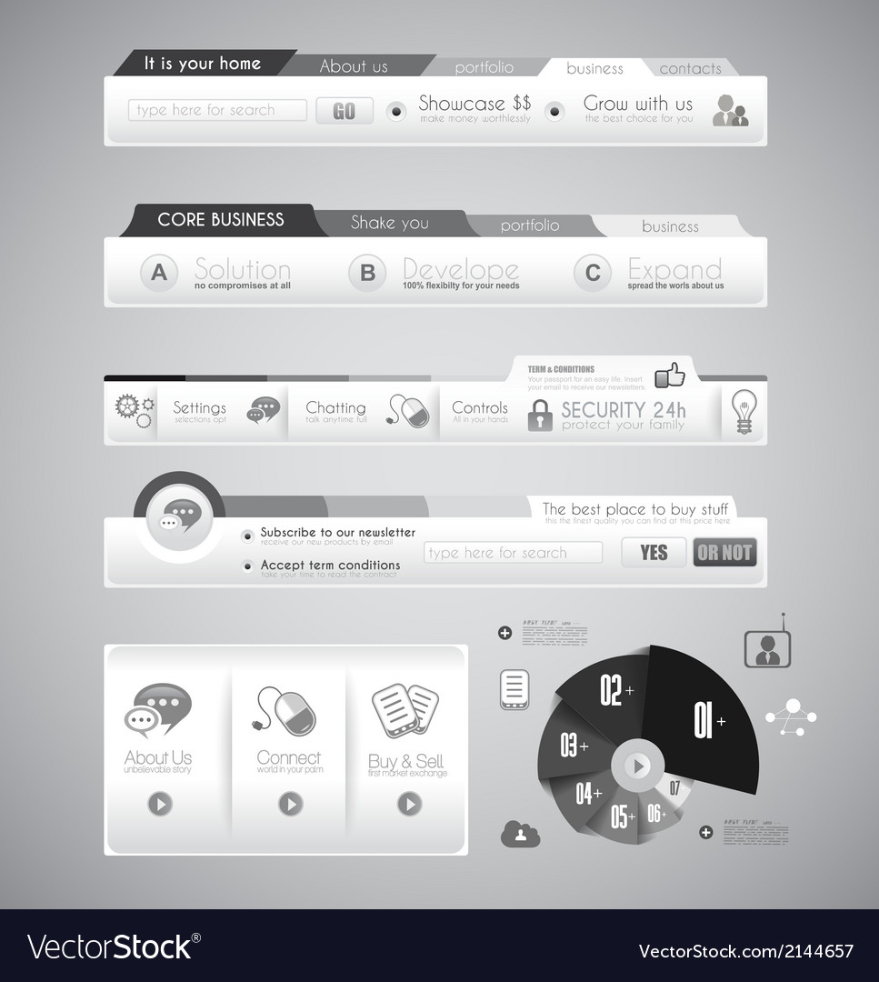 Quality web elements with infographic vector | Price: 1 Credit (USD $1)