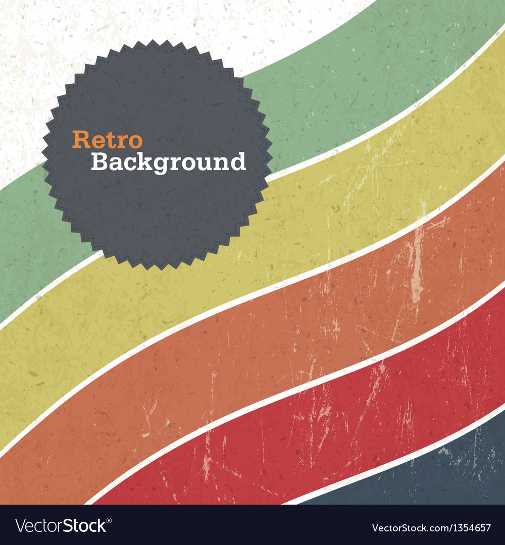 Retro background with colorful lines vector | Price: 1 Credit (USD $1)