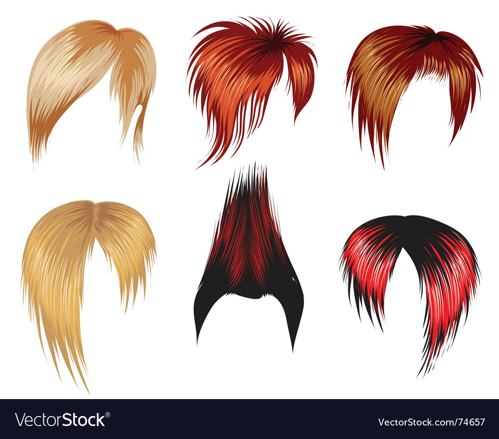 Set of hair style samples vector | Price: 3 Credit (USD $3)