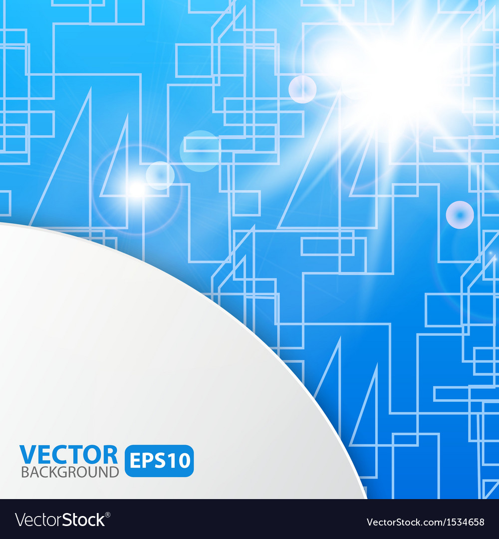 Blue abstract background with sunburst flare vector | Price: 1 Credit (USD $1)