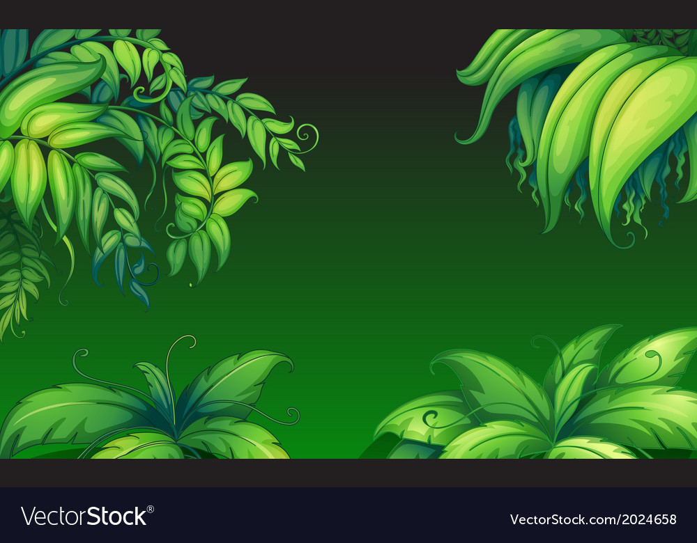 Green leafy plants vector | Price: 1 Credit (USD $1)