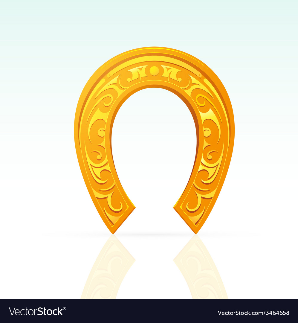 Lucky horseshoe with ornament vector | Price: 1 Credit (USD $1)