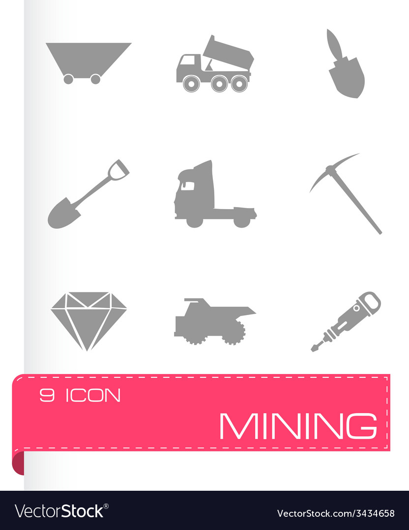 Mining icons set vector | Price: 1 Credit (USD $1)