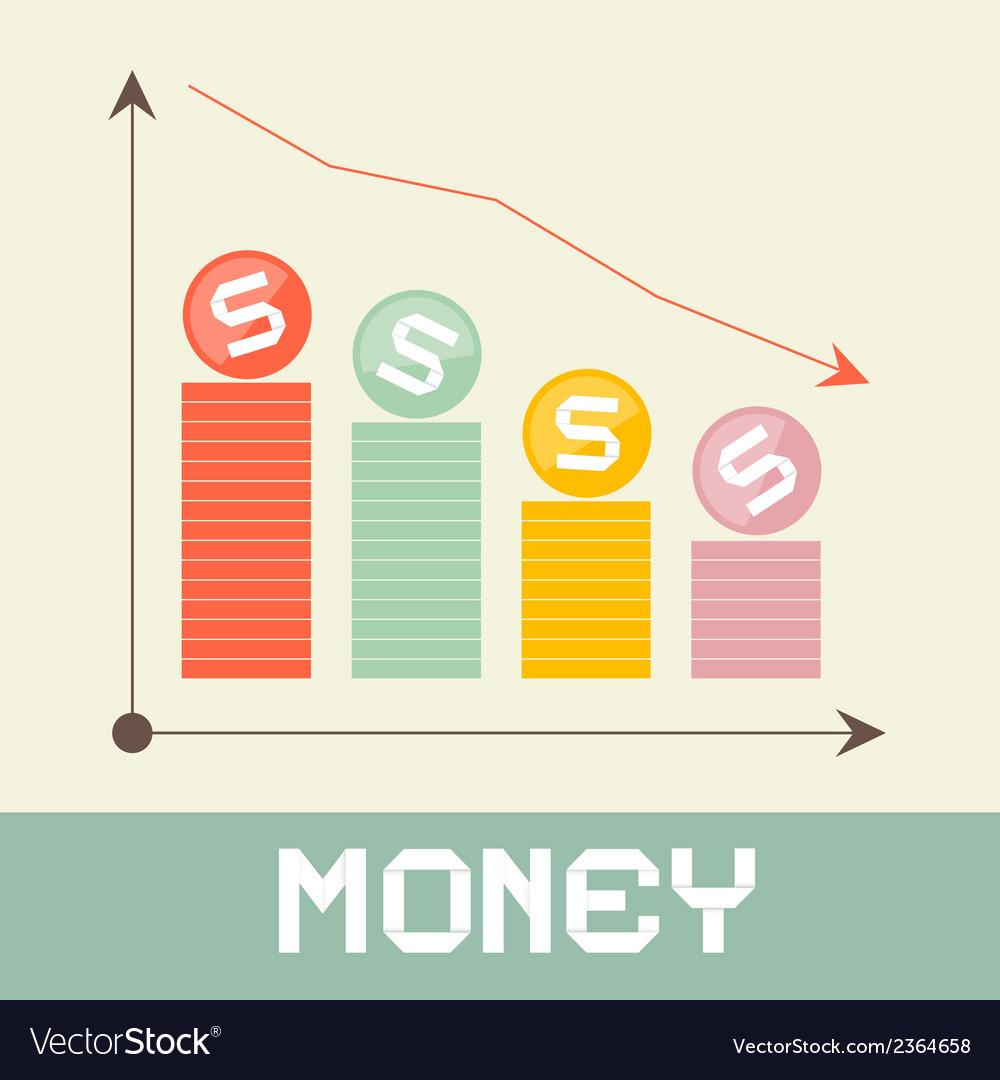 Money graph vector | Price: 1 Credit (USD $1)