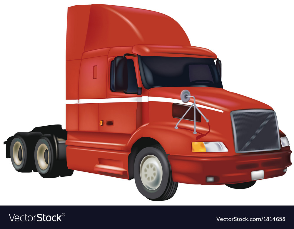 Red truck vector | Price: 1 Credit (USD $1)