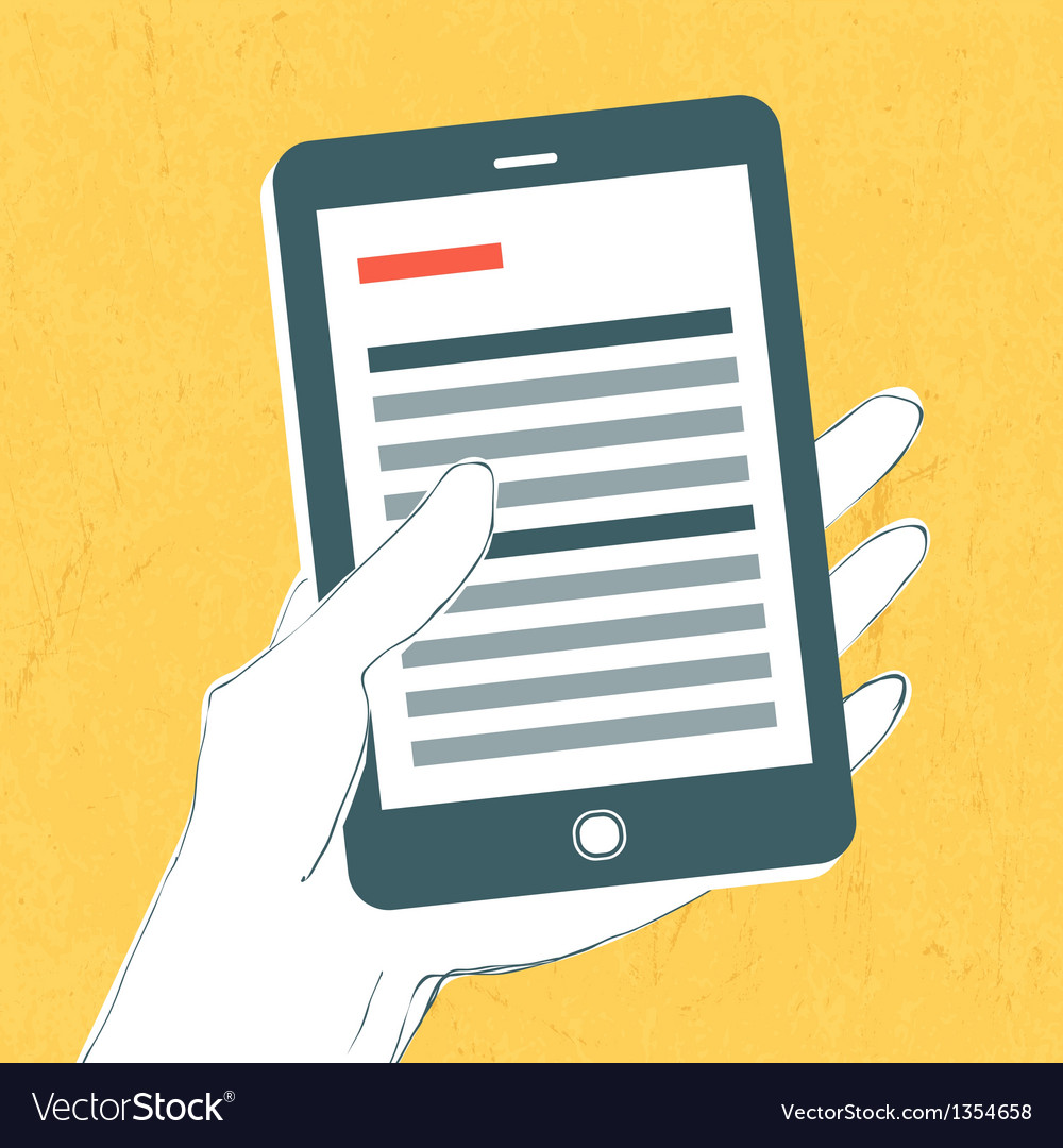 Smartphone with news page vector | Price: 1 Credit (USD $1)