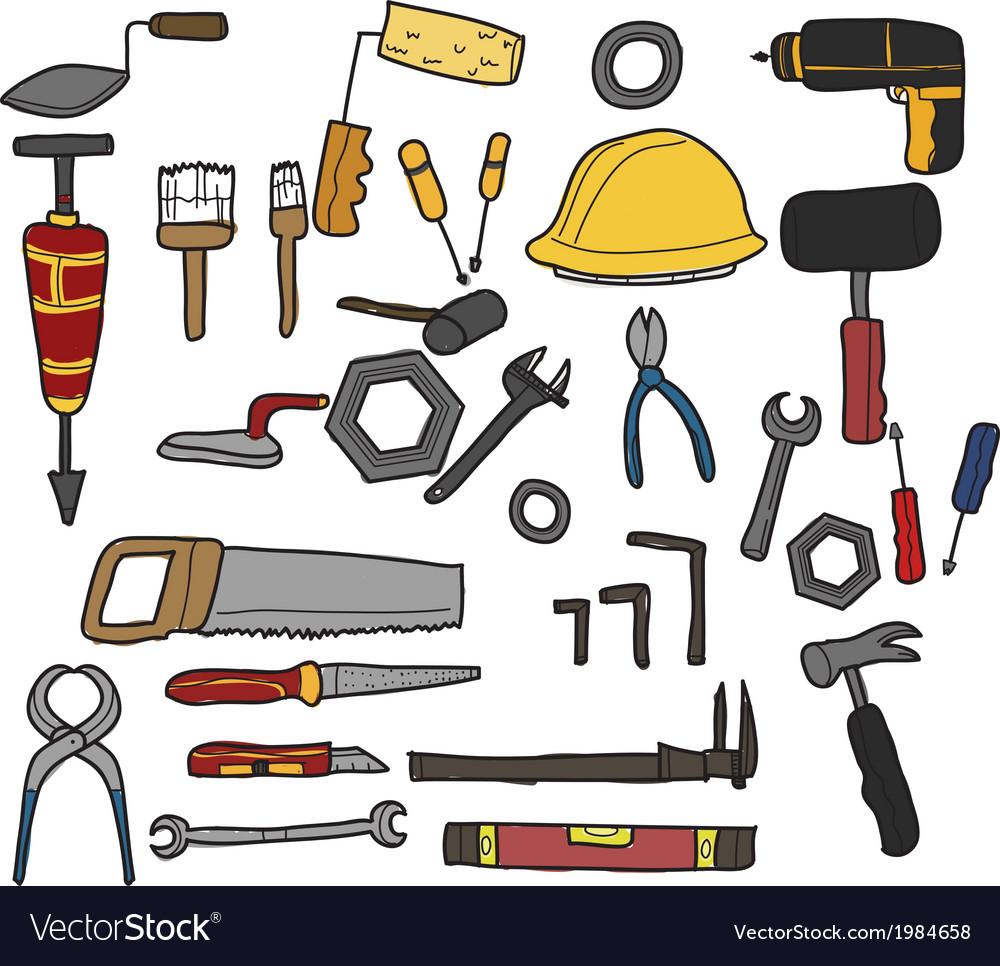 Tools hand drawn vector | Price: 1 Credit (USD $1)