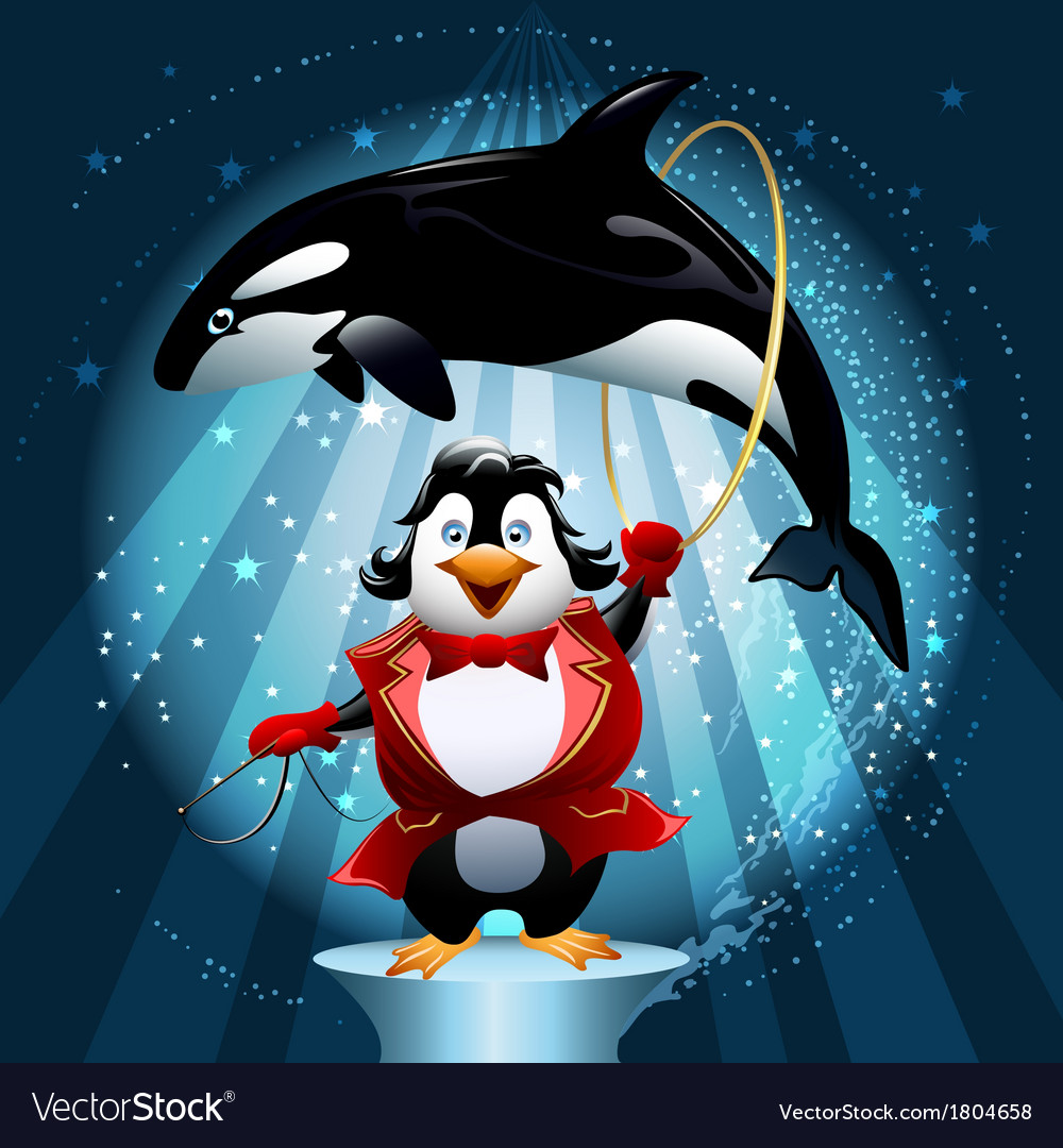 The whale tamer vector | Price: 3 Credit (USD $3)