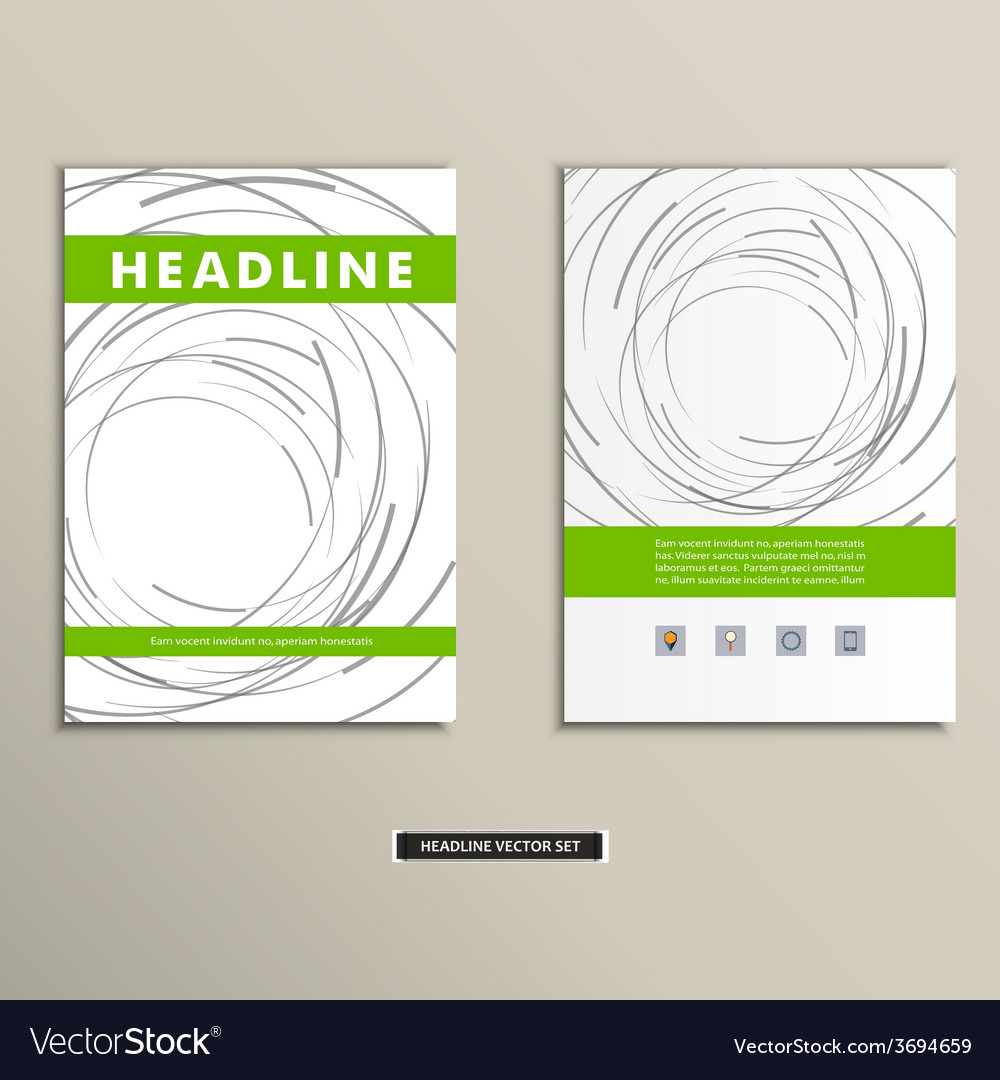 Book cover with abstract colored lines and circles vector | Price: 1 Credit (USD $1)