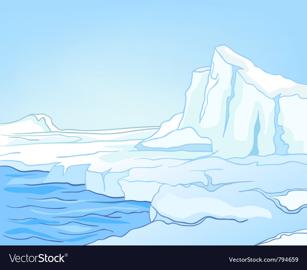 Cartoon nature landscape arctic vector | Price: 1 Credit (USD $1)