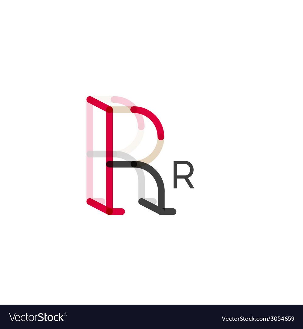 Minimal r font or letter logo design vector | Price: 1 Credit (USD $1)