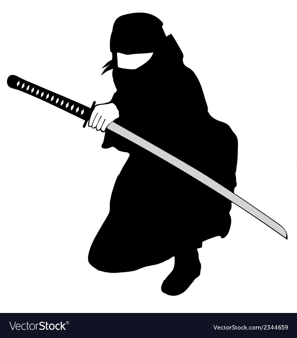 Ninja black vector | Price: 1 Credit (USD $1)