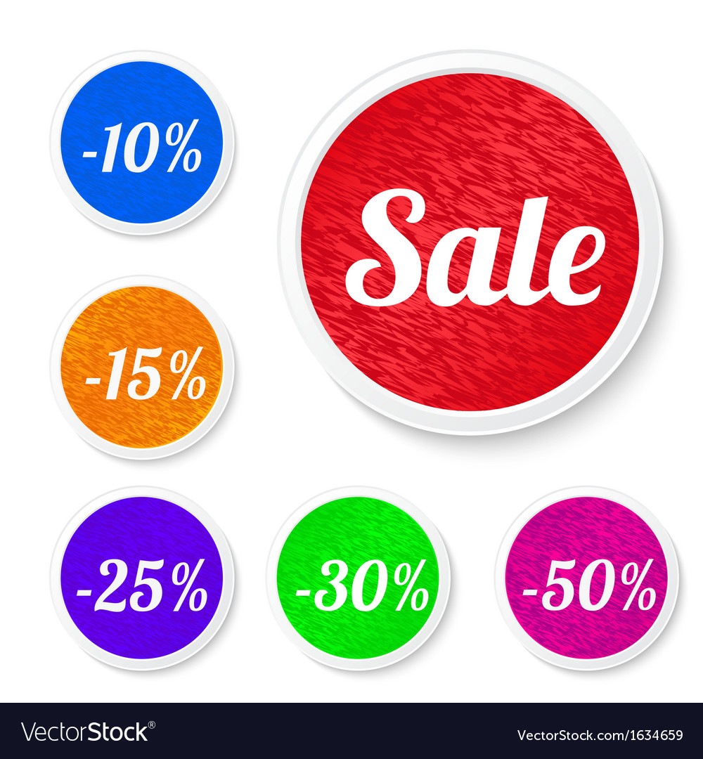 Promo sale stickers vector | Price: 1 Credit (USD $1)