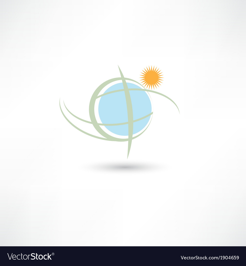 Simple earth symbol vector | Price: 1 Credit (USD $1)