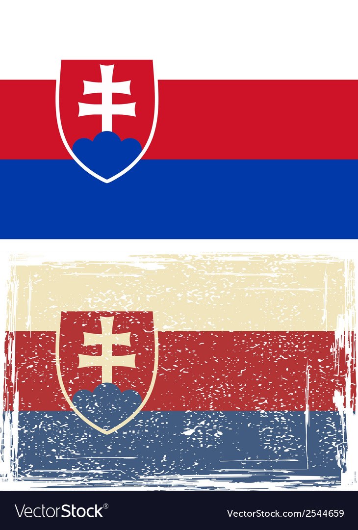 Slovakia grunge flag vector | Price: 1 Credit (USD $1)