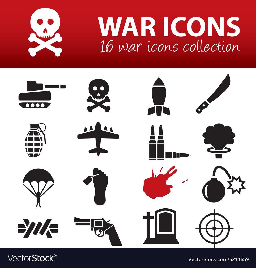 War icons vector | Price: 1 Credit (USD $1)