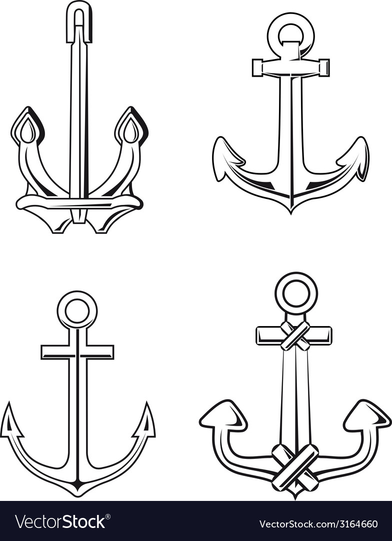 Anchors set vector | Price: 1 Credit (USD $1)