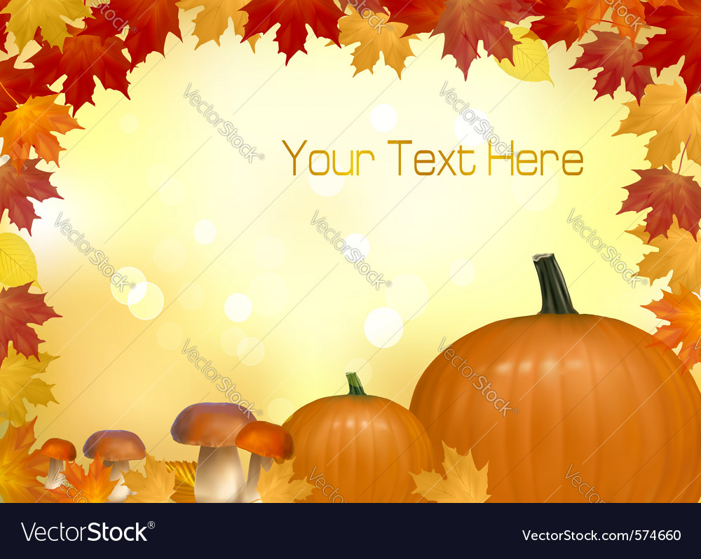 Autumn pumpkins vector | Price: 1 Credit (USD $1)
