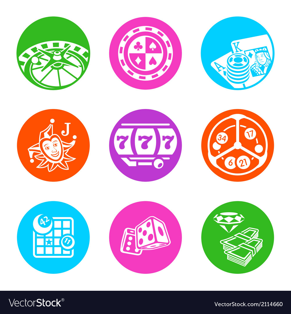 Casino metro icons vector | Price: 1 Credit (USD $1)