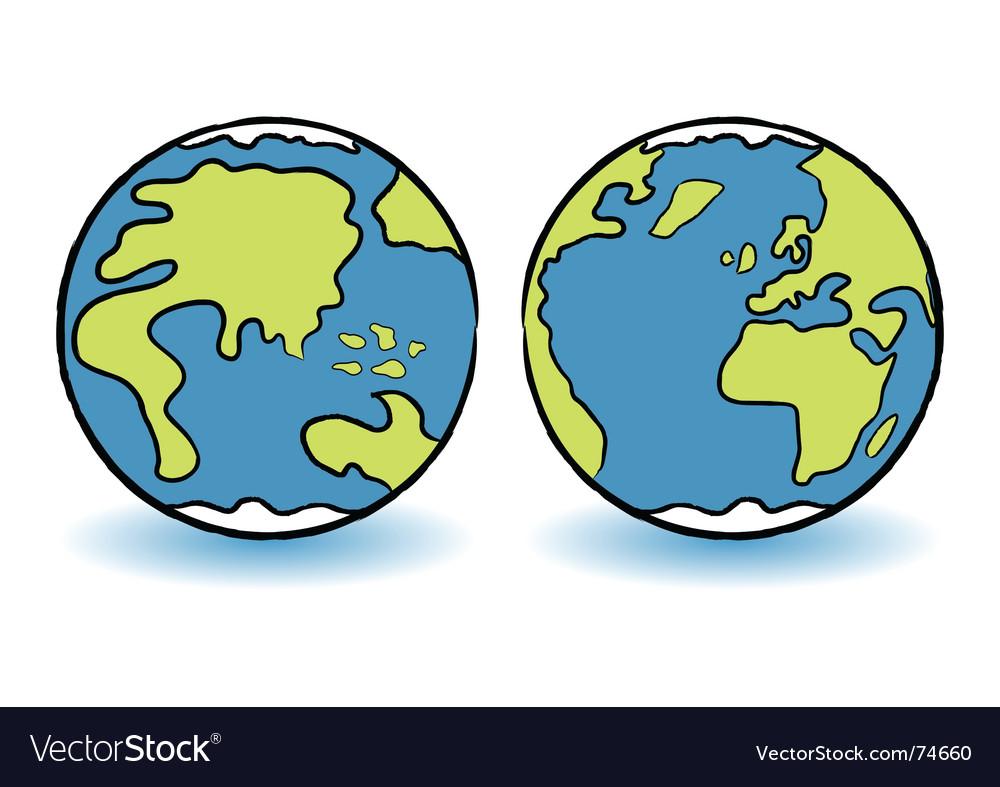 Childish globes vector | Price: 1 Credit (USD $1)