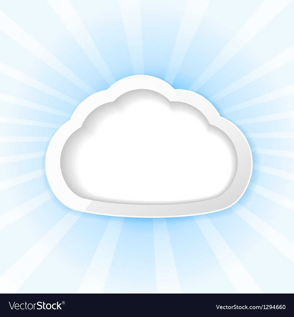 Cloud background vector | Price: 1 Credit (USD $1)