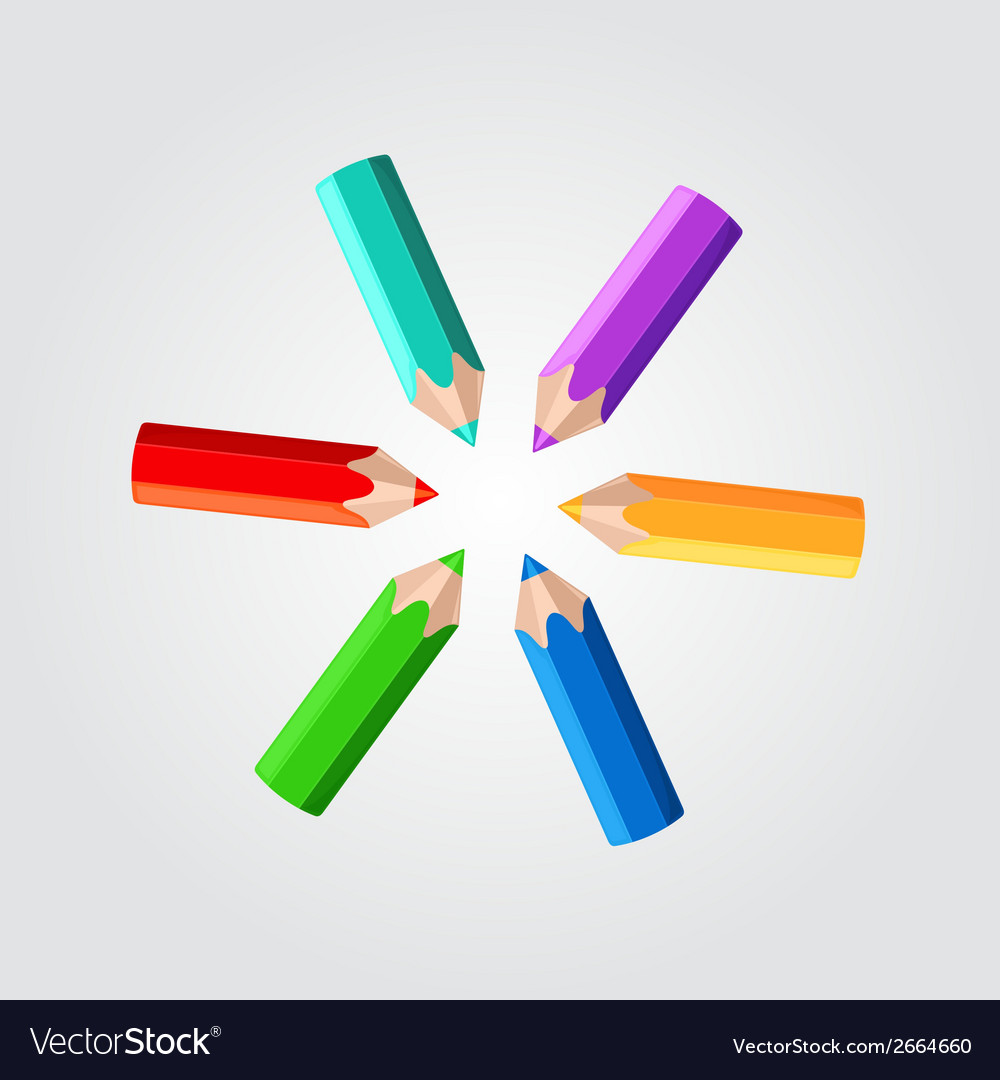 Colored pencils vector   Price: 1 Credit (USD $1)