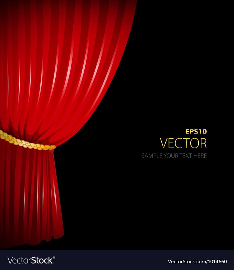 Curtain vector | Price: 1 Credit (USD $1)