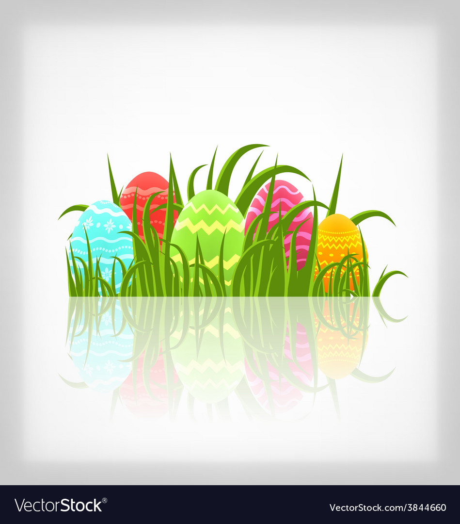 Easter natural background with traditional vector | Price: 1 Credit (USD $1)