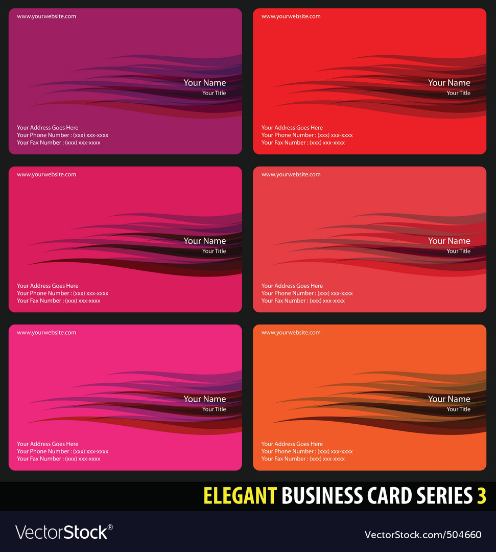 Elegant business cards vector | Price: 1 Credit (USD $1)