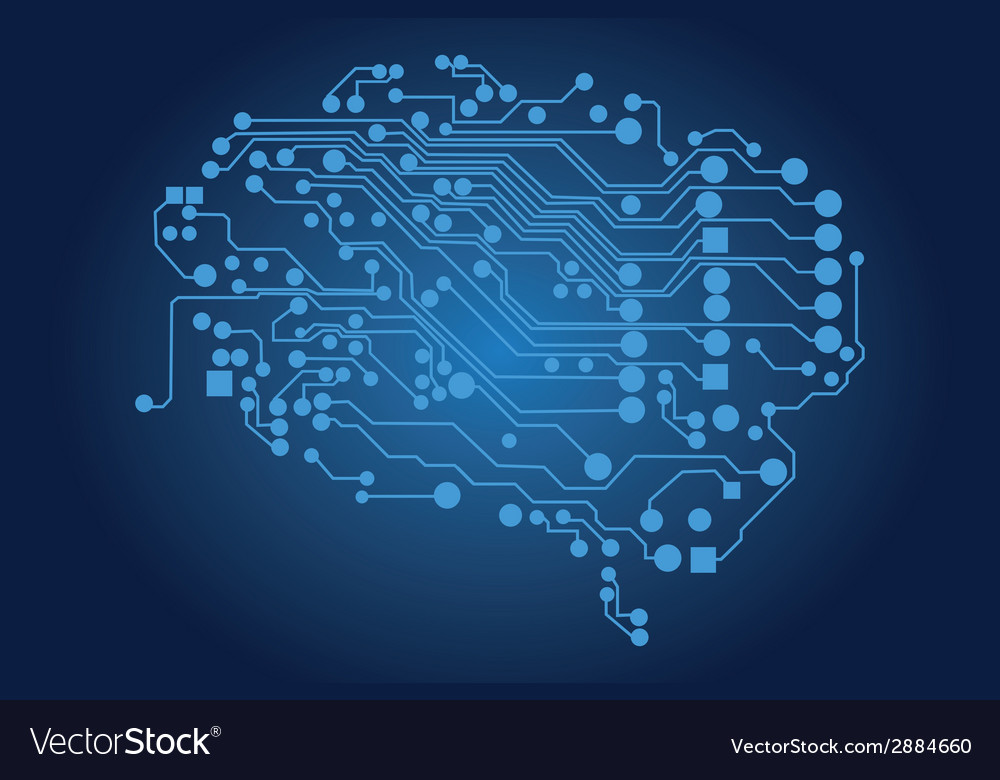 Human brain logical thinking vector | Price: 1 Credit (USD $1)