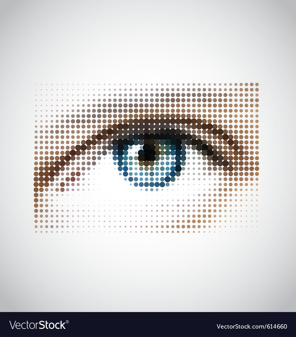 Human eye halftone pattern vector