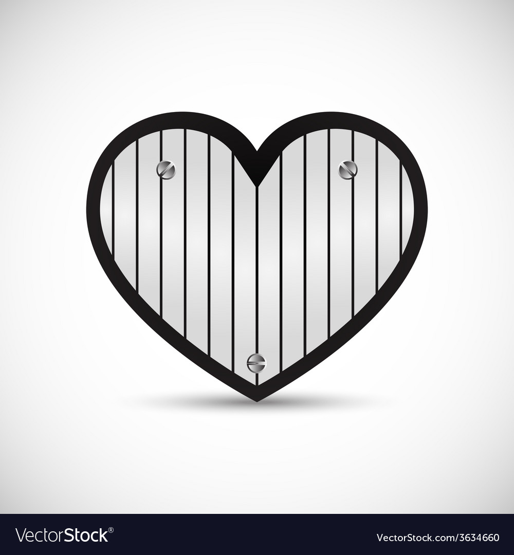 Iron love heart vector | Price: 1 Credit (USD $1)