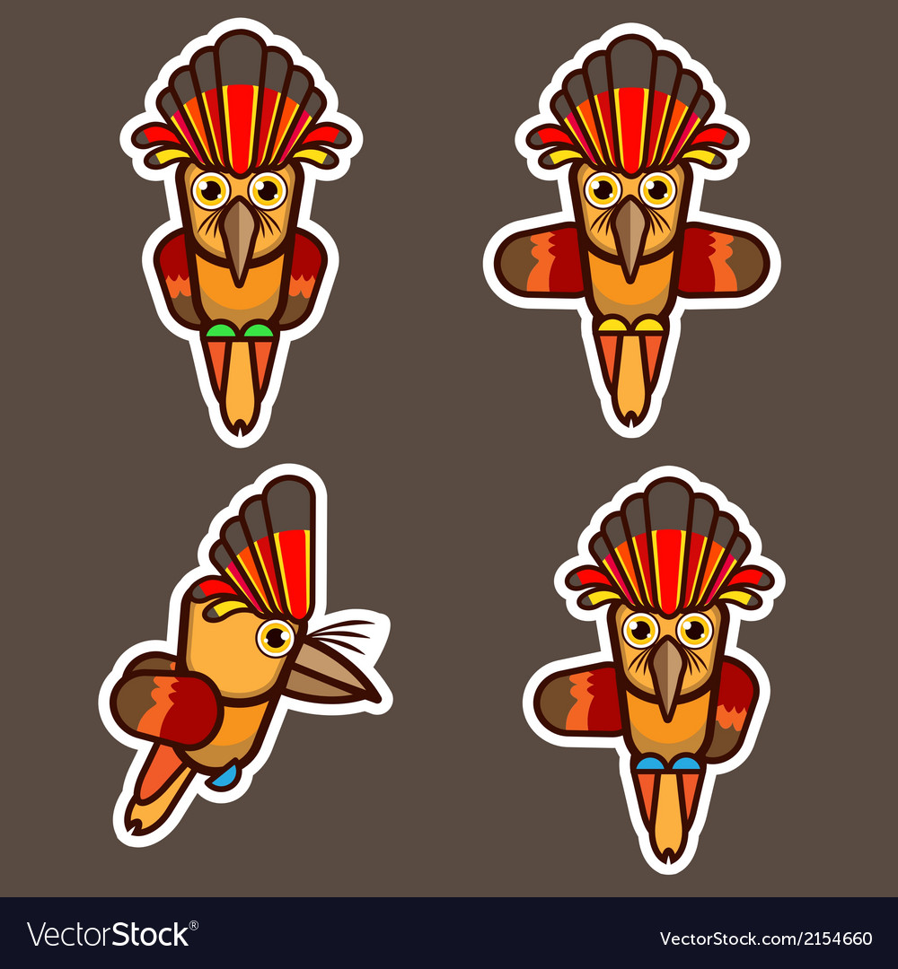 Royal flycatcher abstract cartoon vector | Price: 1 Credit (USD $1)