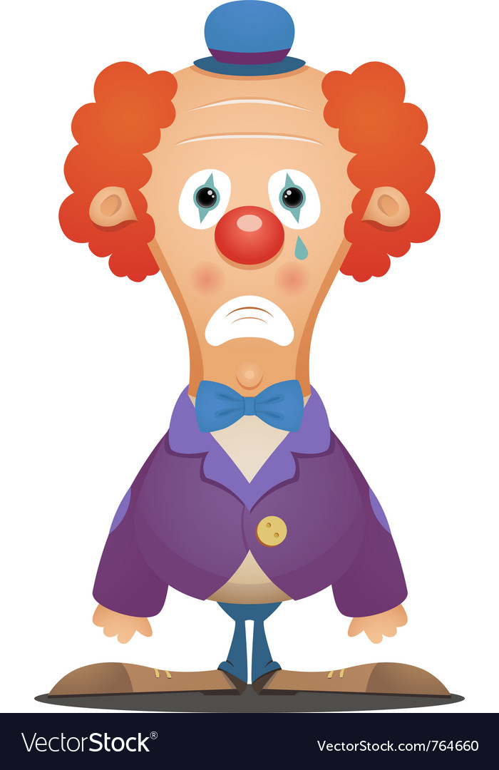 Sad clown vector | Price: 3 Credit (USD $3)