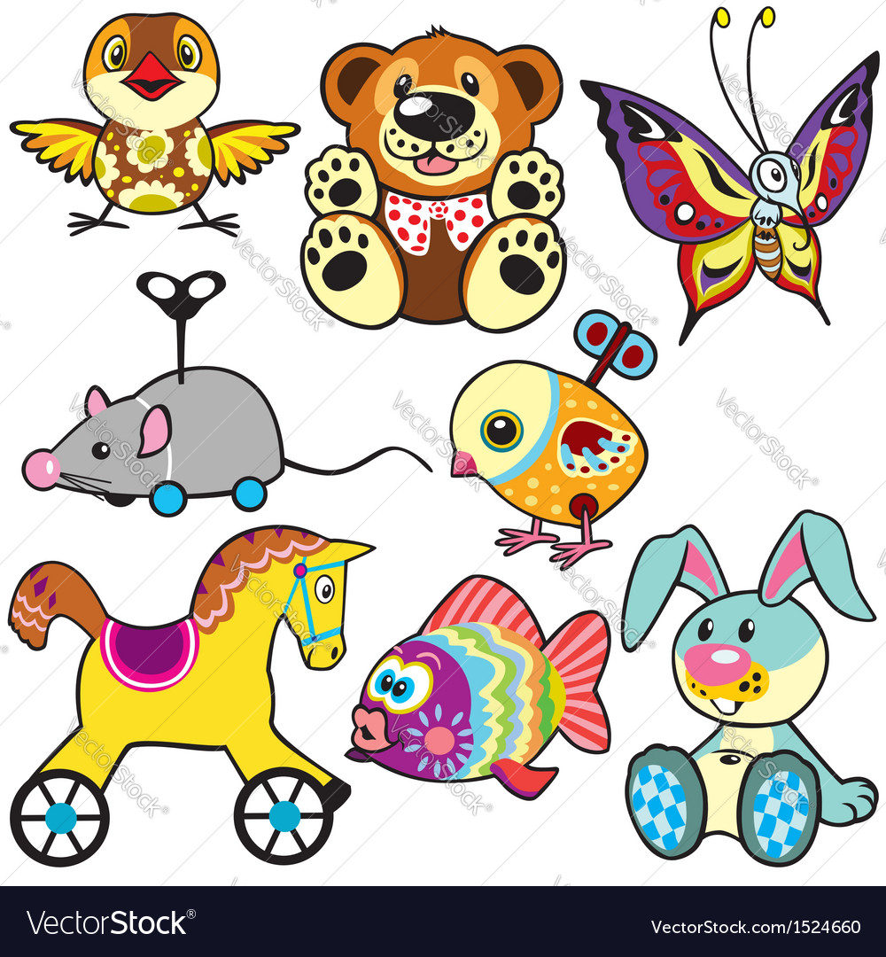 Set with toys vector | Price: 3 Credit (USD $3)