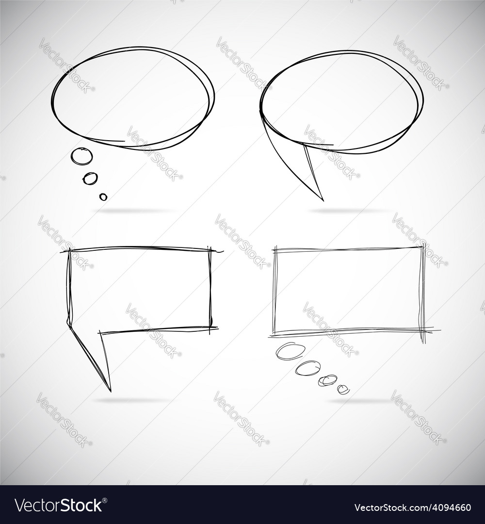 Talk bubbles sketch drawing vector | Price: 1 Credit (USD $1)