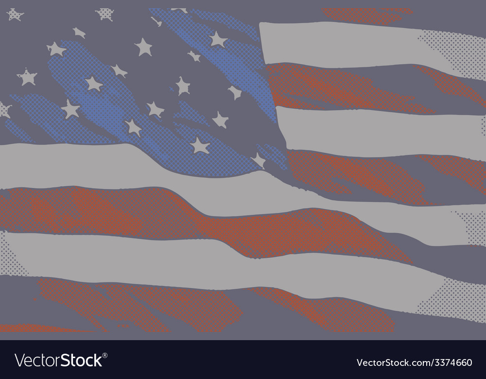 Vintage flag usa vector | Price: 1 Credit (USD $1)
