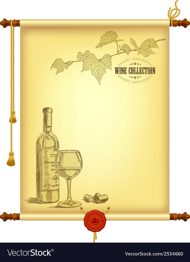 Wine background vector   Price: 1 Credit (USD $1)
