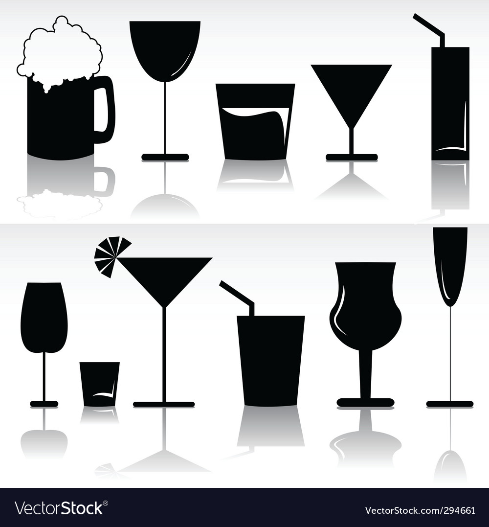 Alcoholic beverages vector | Price: 1 Credit (USD $1)