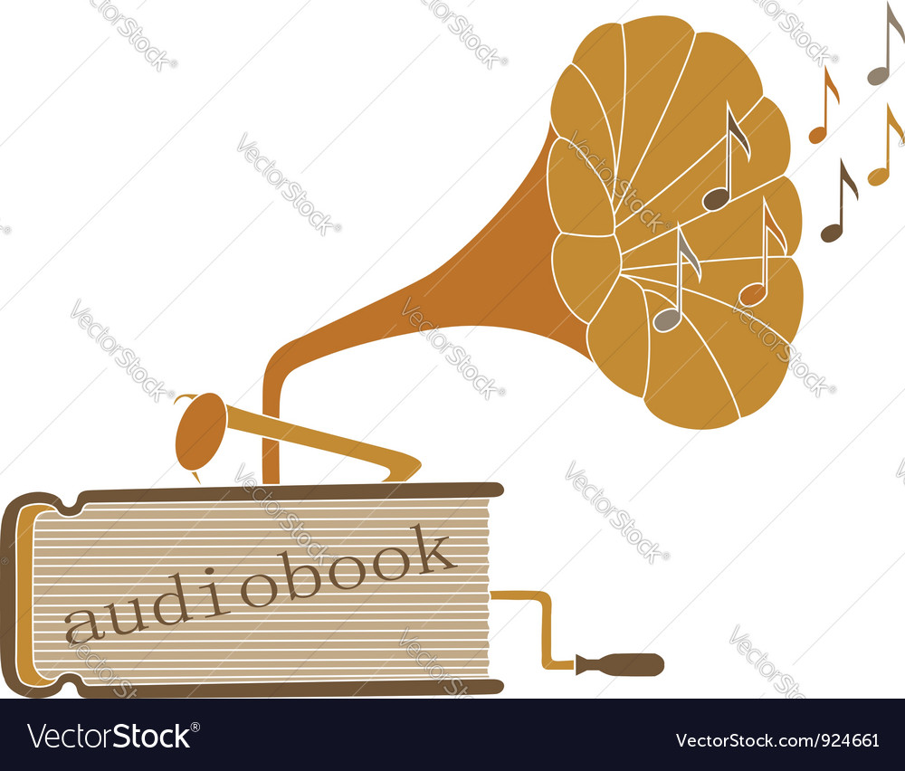 Audio book vector | Price: 1 Credit (USD $1)