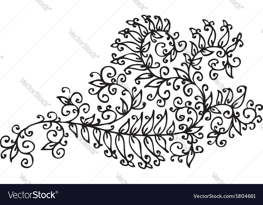 Baroque pattern vignette cxxi vector | Price: 1 Credit (USD $1)