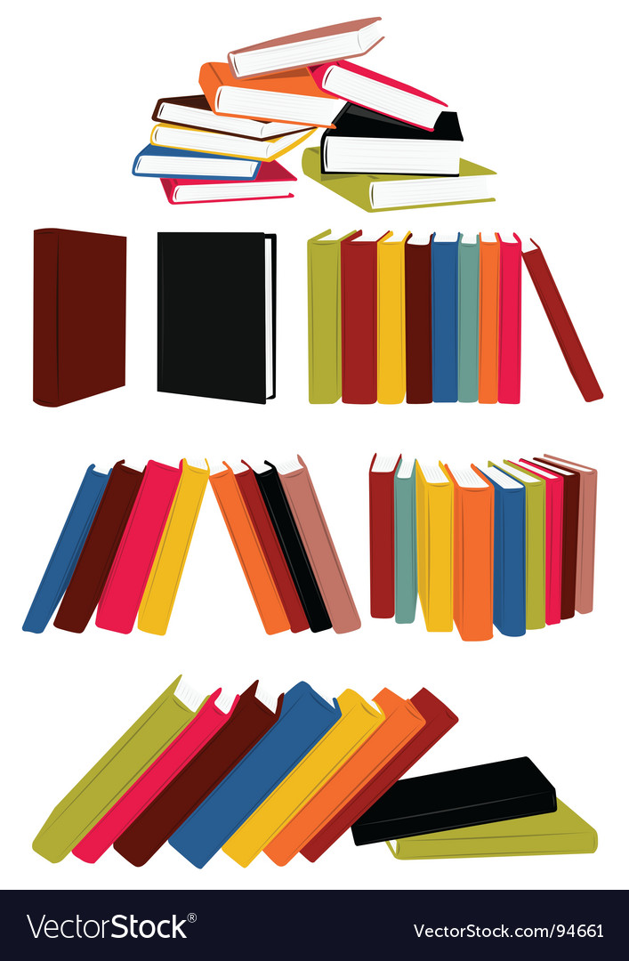 Books collection vector | Price: 1 Credit (USD $1)