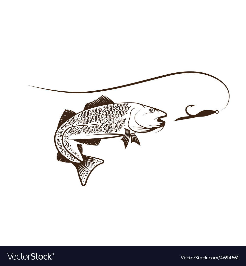 Cod fish and lure vector | Price: 1 Credit (USD $1)