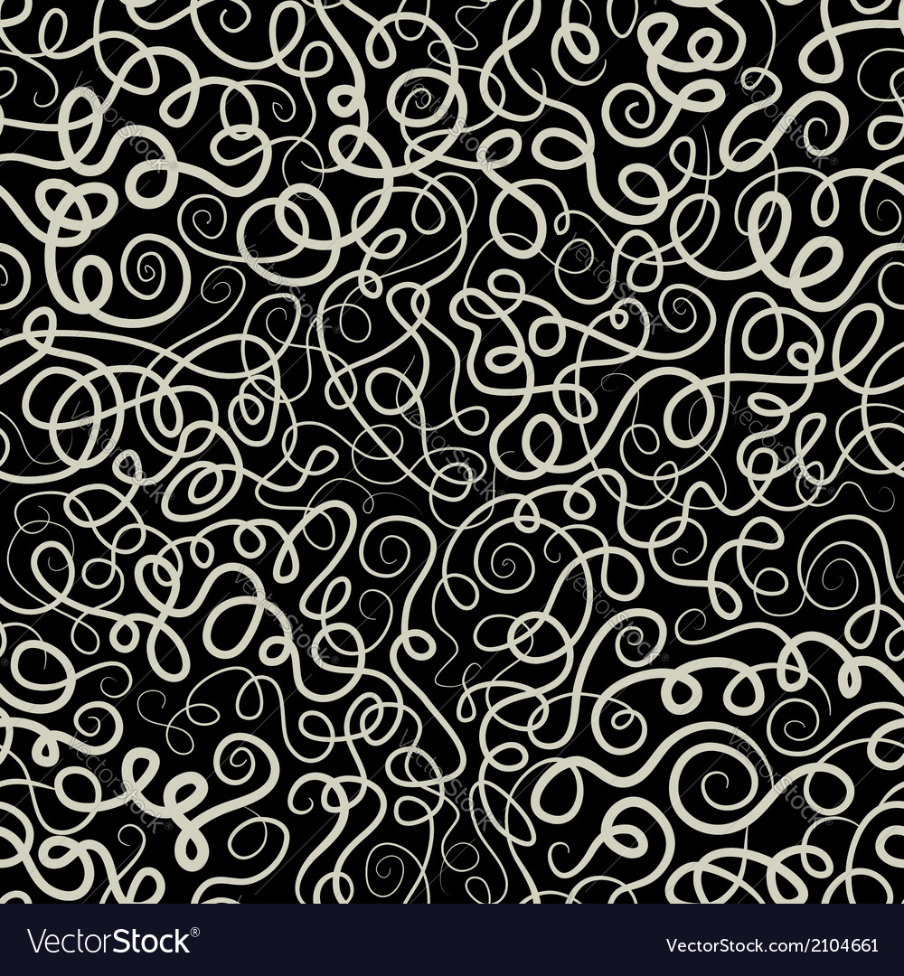 Decorative curly waves lines pattern vector | Price: 1 Credit (USD $1)