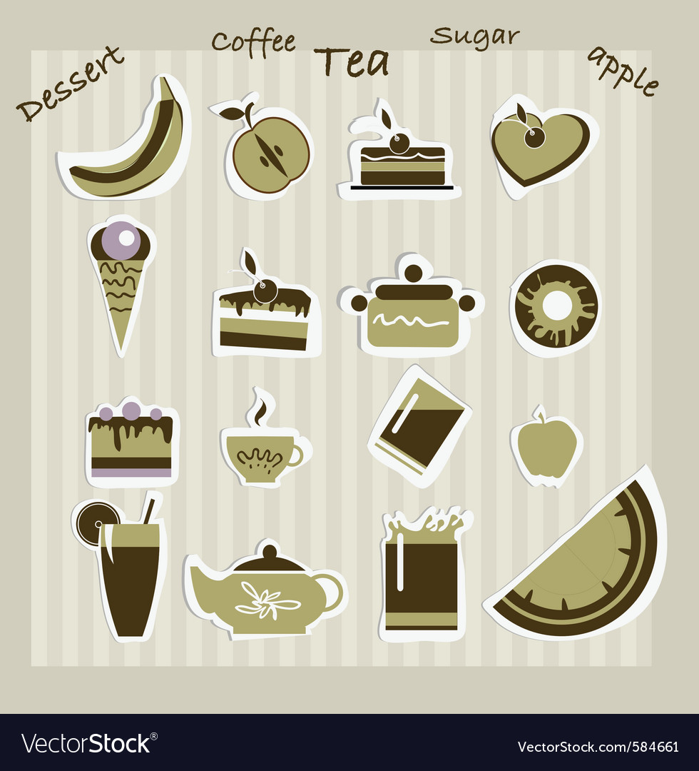 Dessert icons vector | Price: 1 Credit (USD $1)