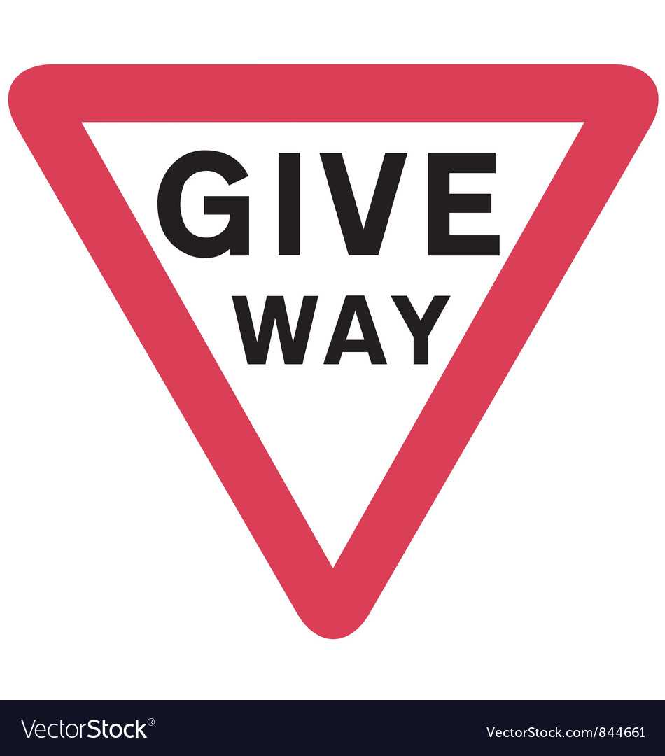 Give way sign vector | Price: 1 Credit (USD $1)
