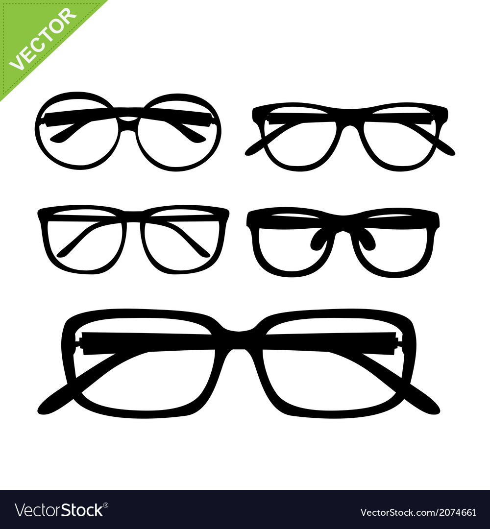 Glasses silhouettes vector | Price: 1 Credit (USD $1)